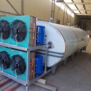 Охладитель молока закрытого типа - объём 5000 л