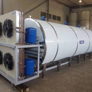 Охладитель молока закрытого типа - объём 14000 л